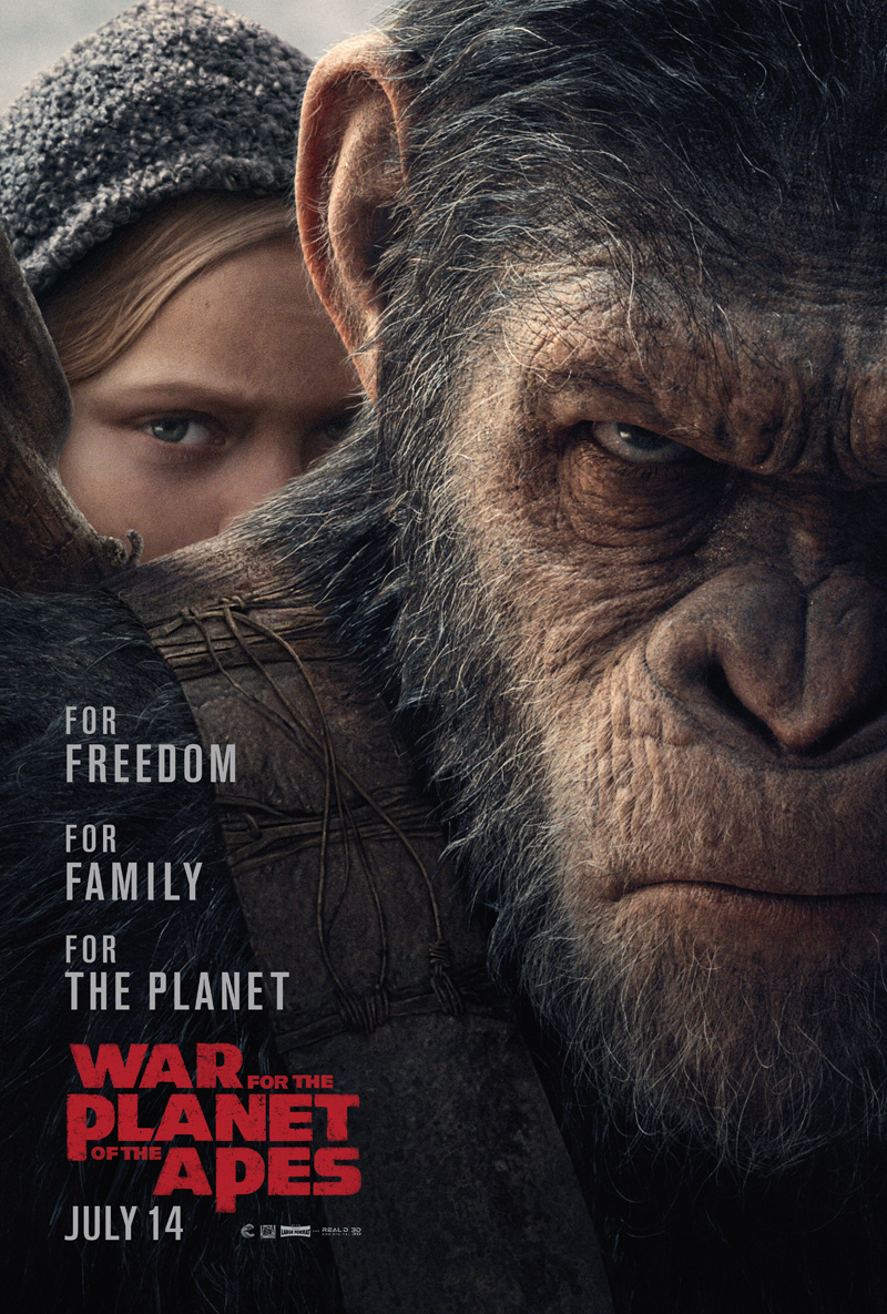 """Promotional poster for """"War for the Planet of the Apes"""" from SuperHeroHype.com"""