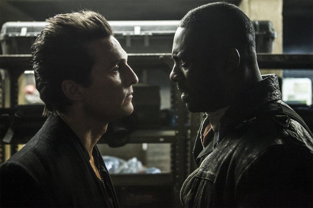 "Matthew McConaughey and Idris Elba in ""The Dark Tower."" (Photo from denofgeek.com)"