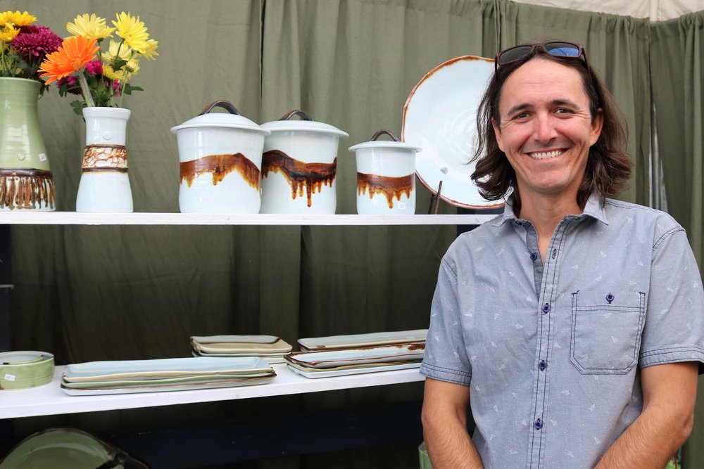 """John Sellberg of Nashville, TN shares his """"Pottery with Personality."""""""