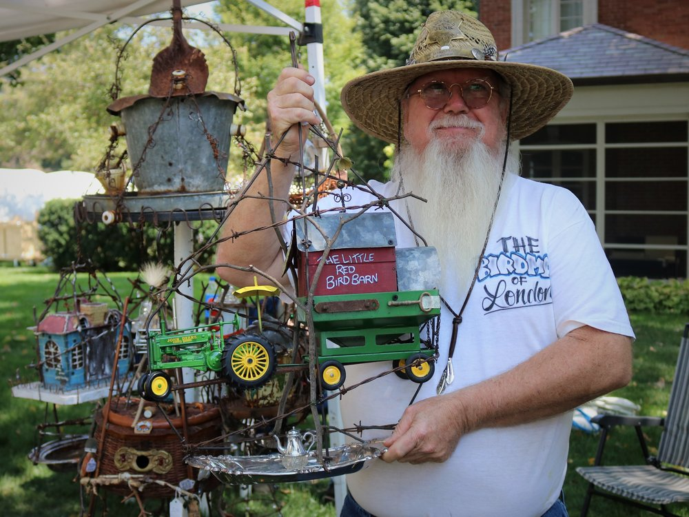 'Bird Man' Steve Donnella of Odds and Ends Bird Houses creates birdhouses out of unusual objects.