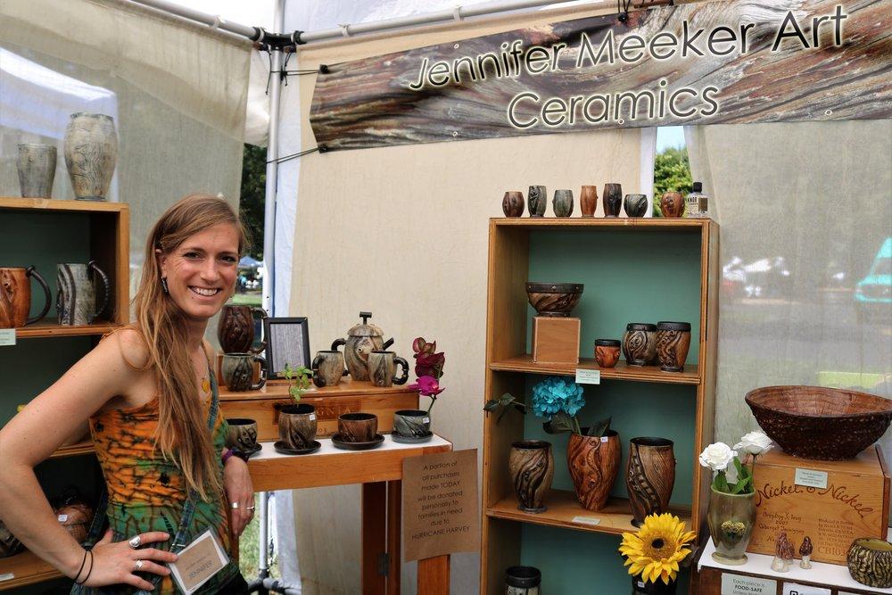 Jennifer Meeker, ceramic artist, is an alumni of Herron School of Art. Find out more about Meeker on www.jennifermeekerart.com.