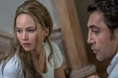 "Jennifer Lawrence and Javier Bardem in ""mother!"" (Image courtesy of IMDB)"