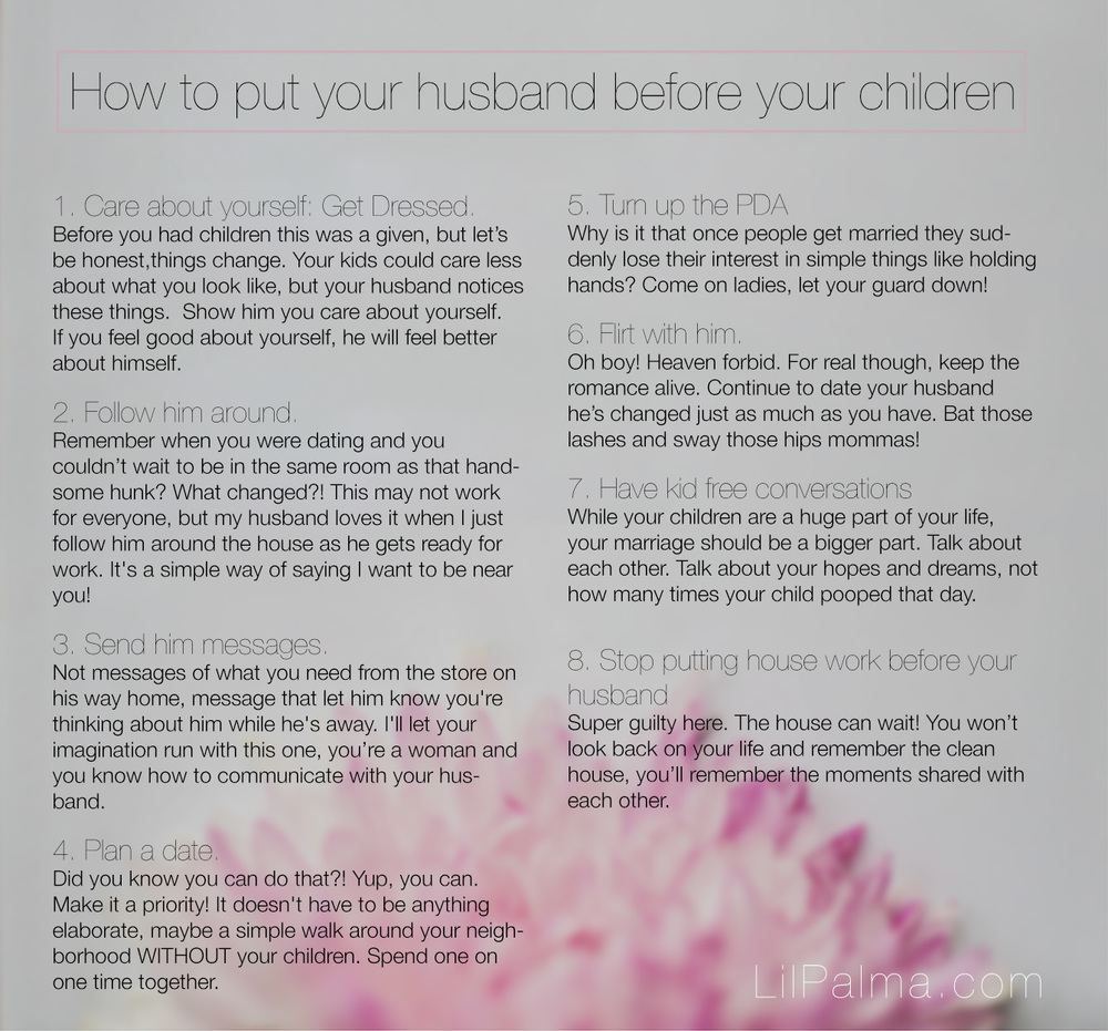 How to put your husband first