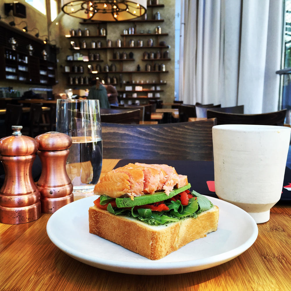 My Friday Afternoon @ Samovar Tea Lounge in Yerba Buena Gardens: Masala Chai & Avocado Toast w/ Smoked Salmon