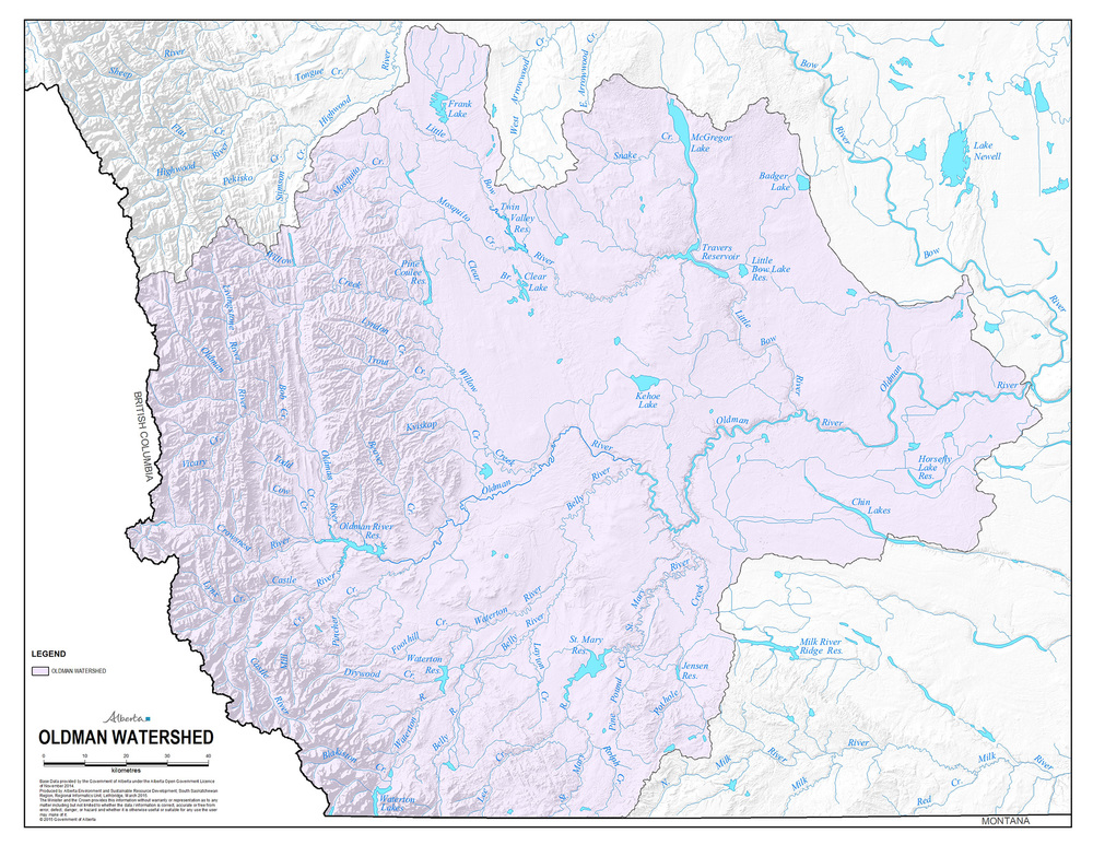 The Oldman Watershed Basin. View More Maps>>