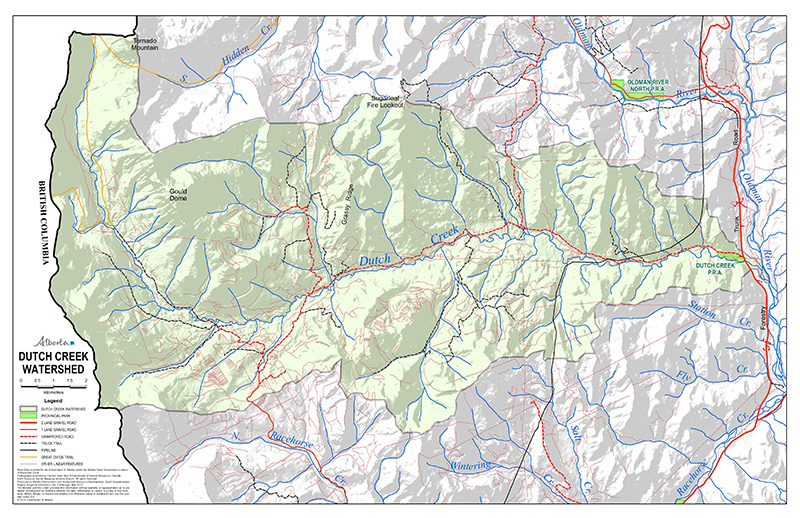 Dutch Creek Watershed Map. See more maps here.
