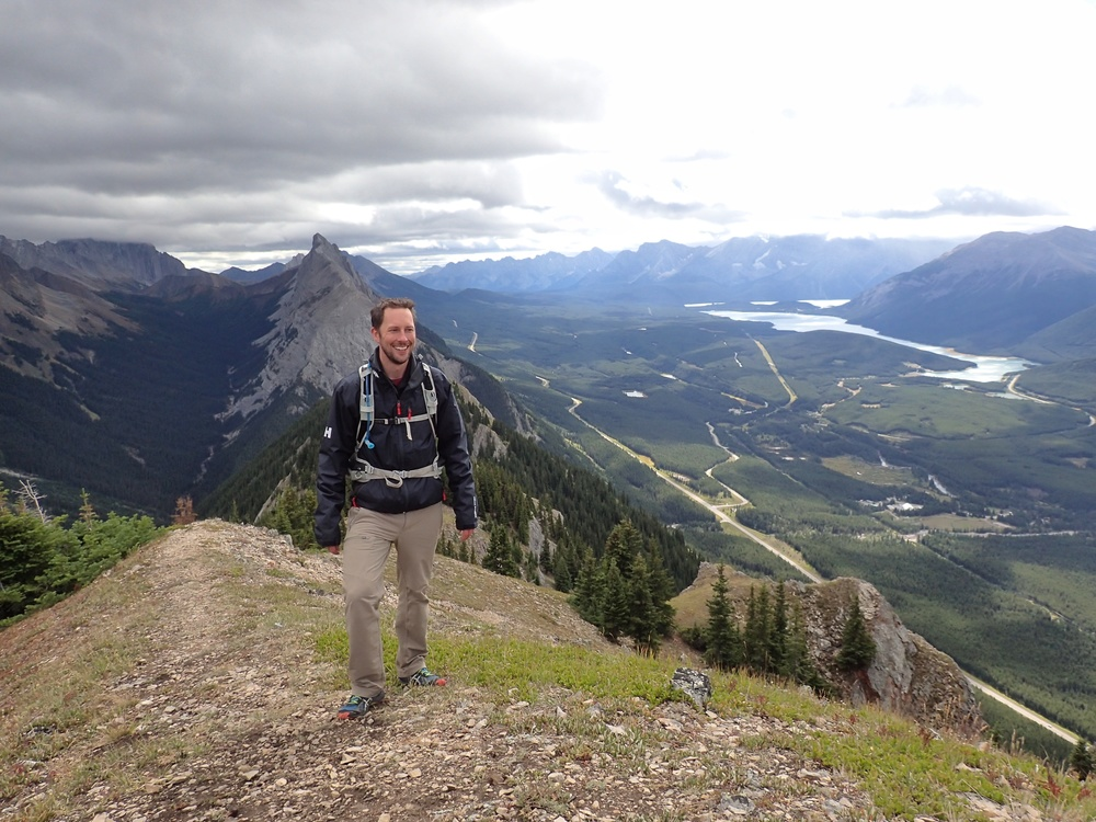 Enjoying the views on King's Creek Ridge in Kananaskis