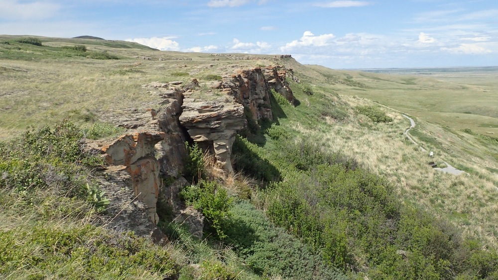 The Buffalo Jump site and surrounding landscape