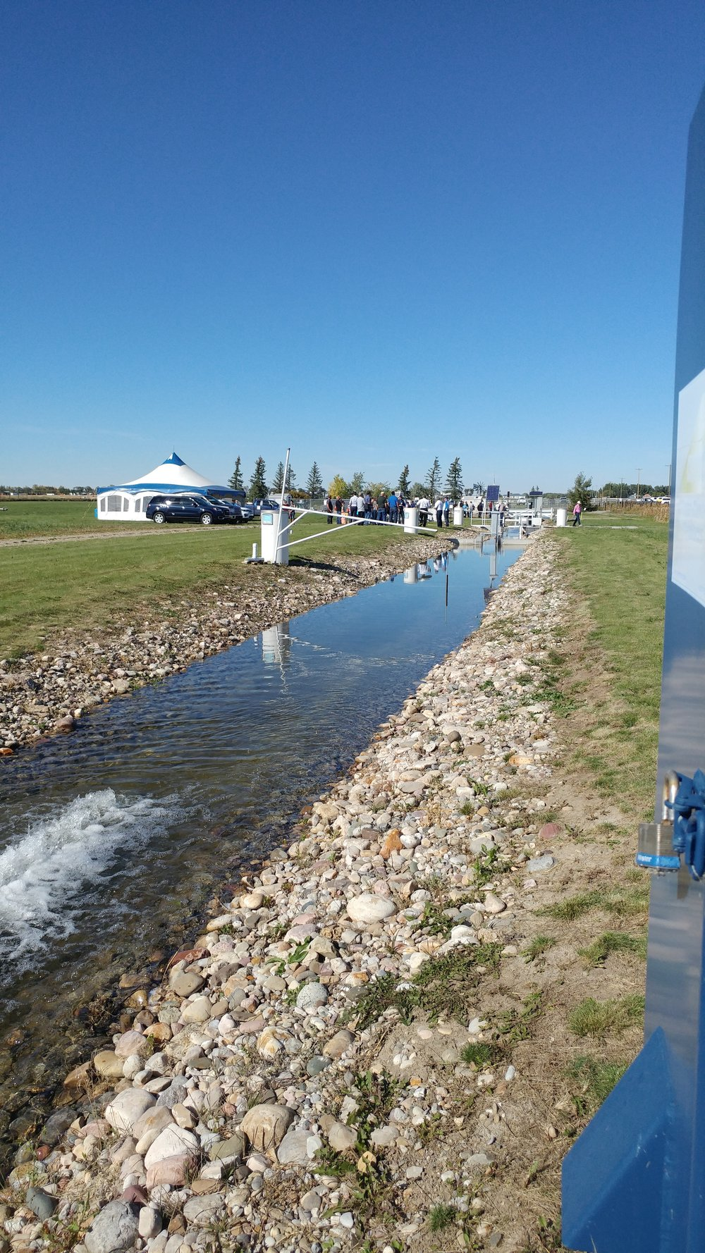 The Alberta Irrigation Technology Centre - where organizers gave a live tour of the Water Monitoring Technology and Equipment.