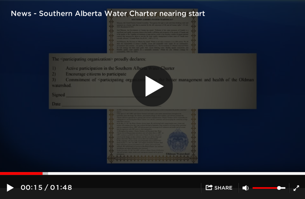 Group behind Southern Alberta Water Charter seeks signatures - Global News