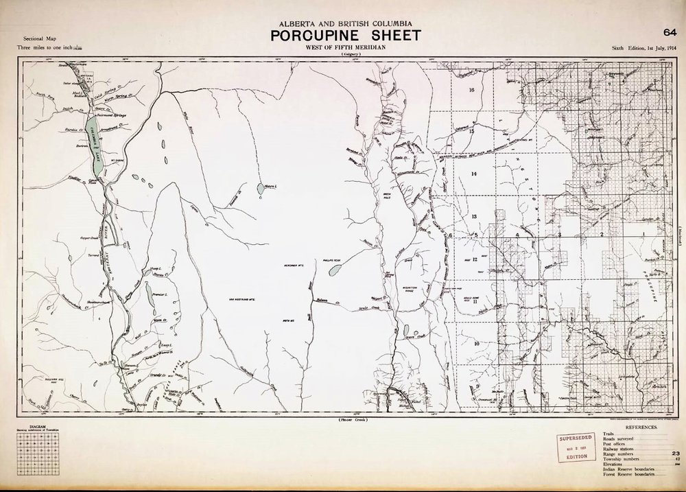 Alberta and British Columbia Porcupine Sheet