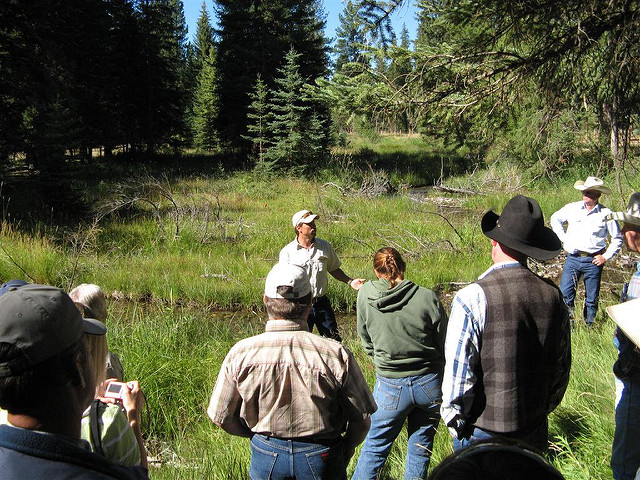 Blackfoot Challenge Tour  - Through tours funded in part by the WLP, organizers were able to take producers to Ovando, Montana to visit a Watershed Stewardship Group, the Blackfoot Challenge.Photo Gallery →