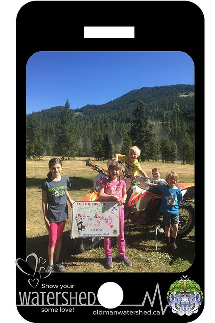 """These young folks have got it right!             """"For the love of dirt biking, camping and fishing         we will stay on the trail, put fires out and clean up."""""""