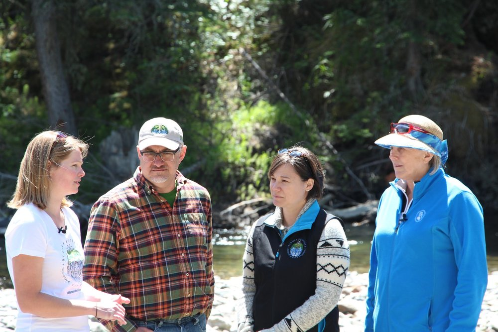 OWC Executive Director Shannon Frank, and Chair Doug Kaupp, showing multiple use effects to Environment and Parks Minister Shannon Phillips, and Lethbridge East MLA Maria Fitzpatrick, in the Dutch Creek subwatershed.
