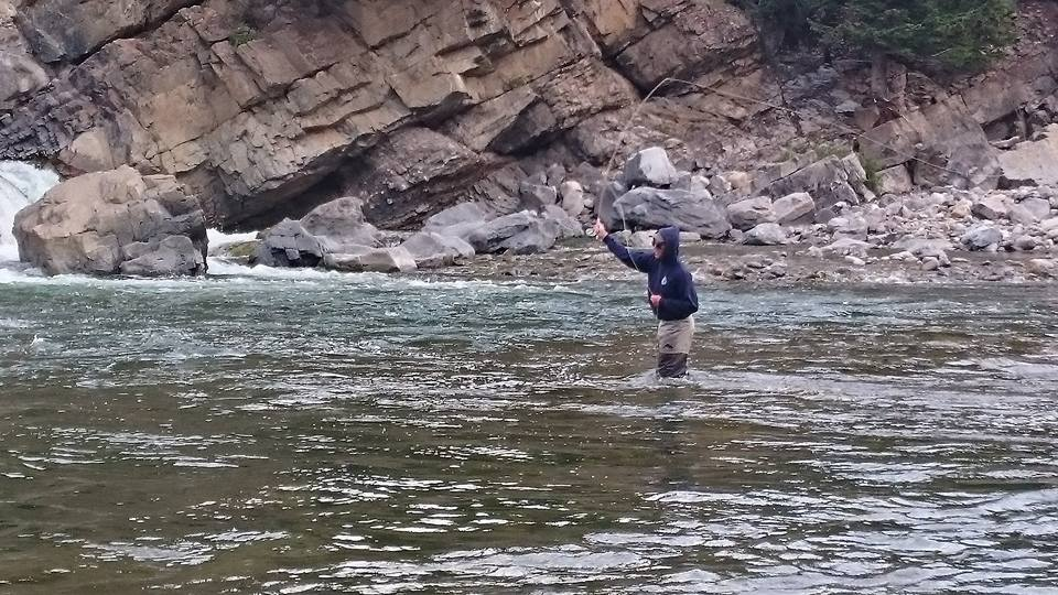 Fly fishing in the Upper Oldman.  Photo by Jordan Pinkster.