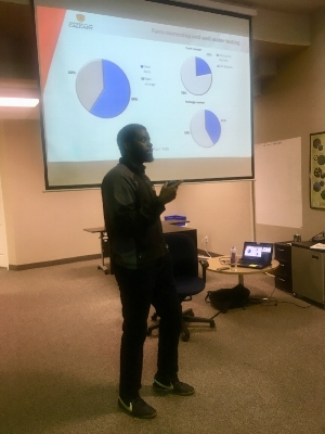 Abraham sharing the results today at OWC's office.