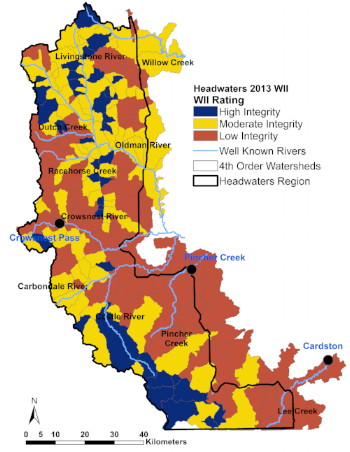 In 2013, OWC's research found that the health of the Eastern Slopes in the Oldman watershed has declined.