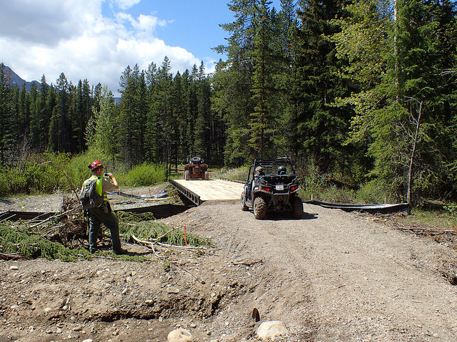 Redecking this bridge over Allison Creek to support snowmobile use will help keep vehicles out of our headwaters year-round.