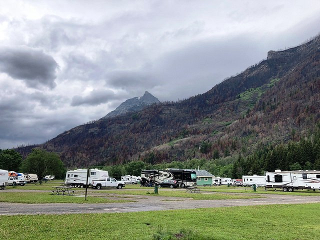 The fire did not reach the Waterton Lakes Campground, but to the southeast, where the Bertha Falls/Bertha Lake trailhead is located, there was a lot of damage to vegetation and trail infrastructure.