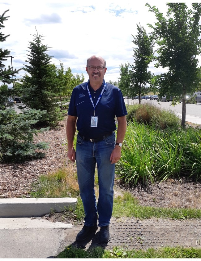 Phil Dyck, Grounds Manager at University of Lethbridge.