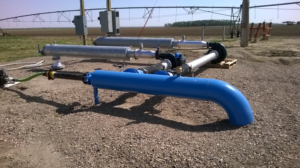 Farmer pump station.  Photo supplied by the Taber Irrigation District.