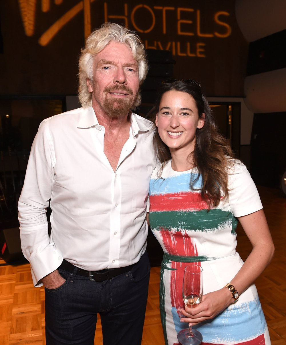 Foodshed Nashville Founder, Anne Walker Harrison, with entrepreneurial hero, Sir Richard Branson