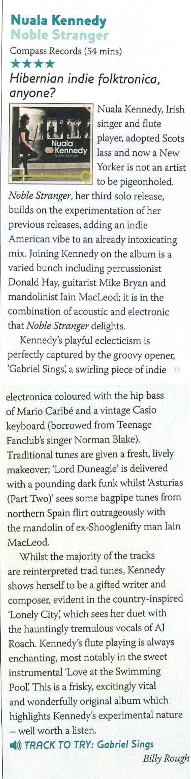 Nuala Kennedy Noble Stranger review Songlines.jpg