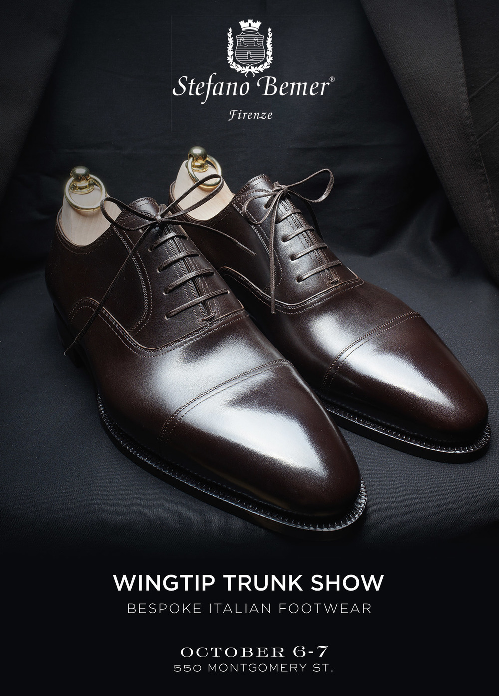 "TRUNK SHOW, ""Wingtip, date, address"""