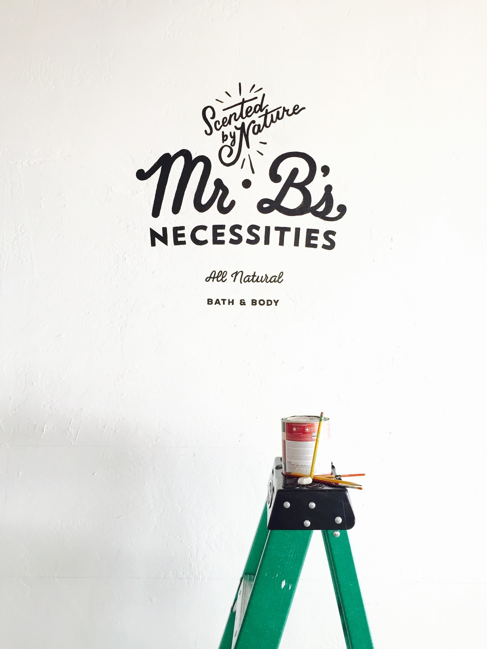 Mr.B's wall logo