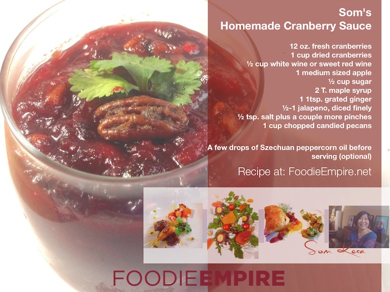 Som's Homemade Cranberry Sauce