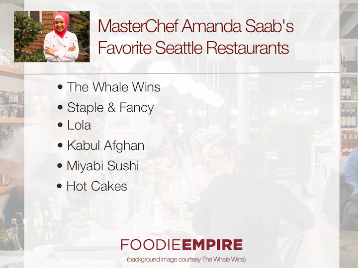 MasterChef Amanda Saab's Favorite Seattle Restaurants