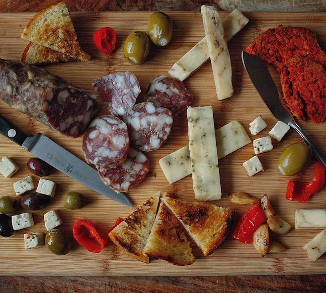 Charcuterie with Beecher's Handmade Cheese and Nduja Artisans via Frank Edgington