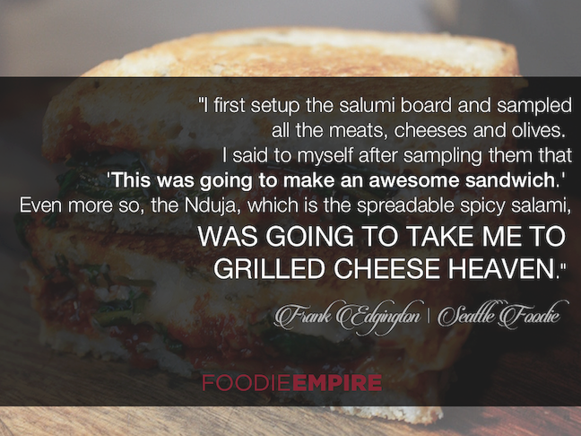 Frank Edgington on transforming a charcuterie board into a grilled cheese sandwich...