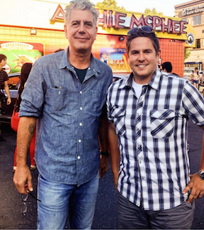 Seattle foodie frank edgington and anthony bourdain