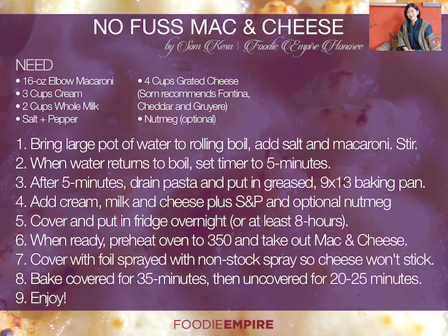 Som Kesa's No Fuss Mac & Cheese