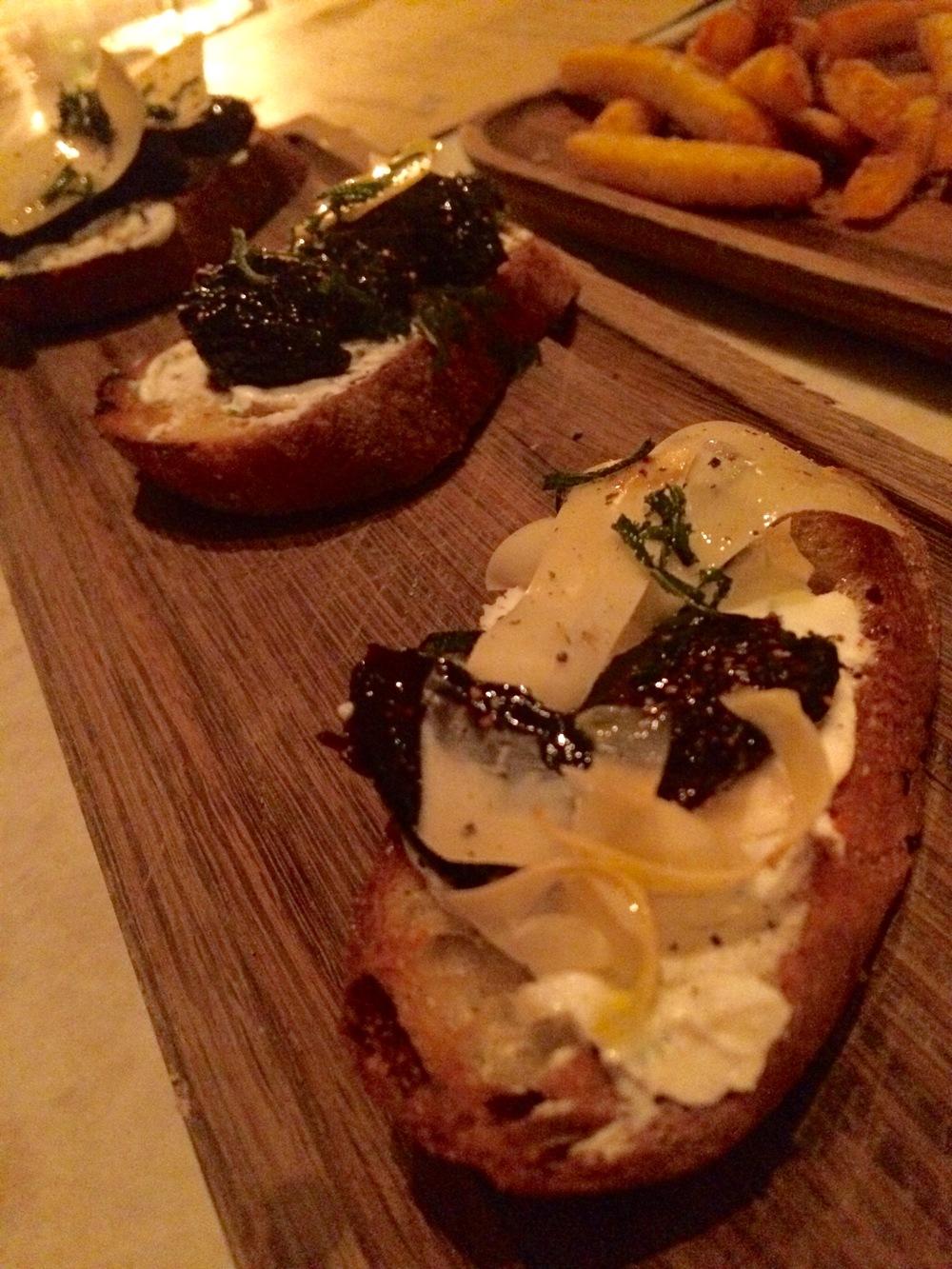Goat Cheese Bruschetta: Goldfinch Tavern