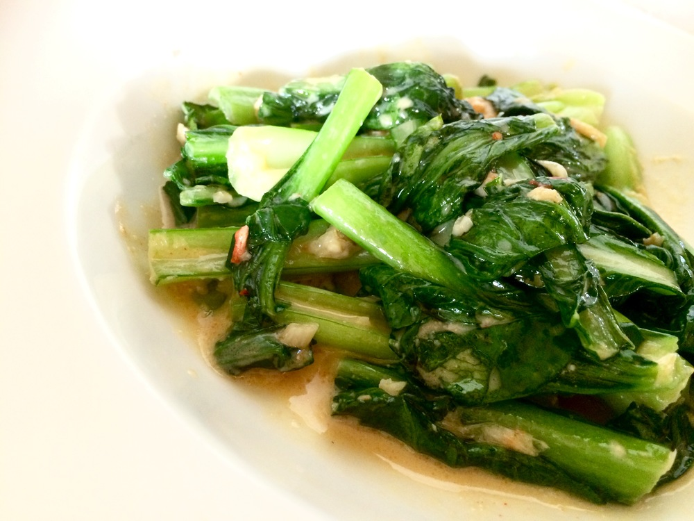 Yu Choy with fermented bean curd and garlic