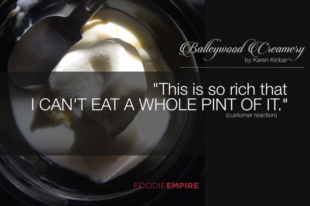 """Seattle Balleywood Ice Cream customer quote: """"This is so rich that I can't eat a whole pint of it."""""""