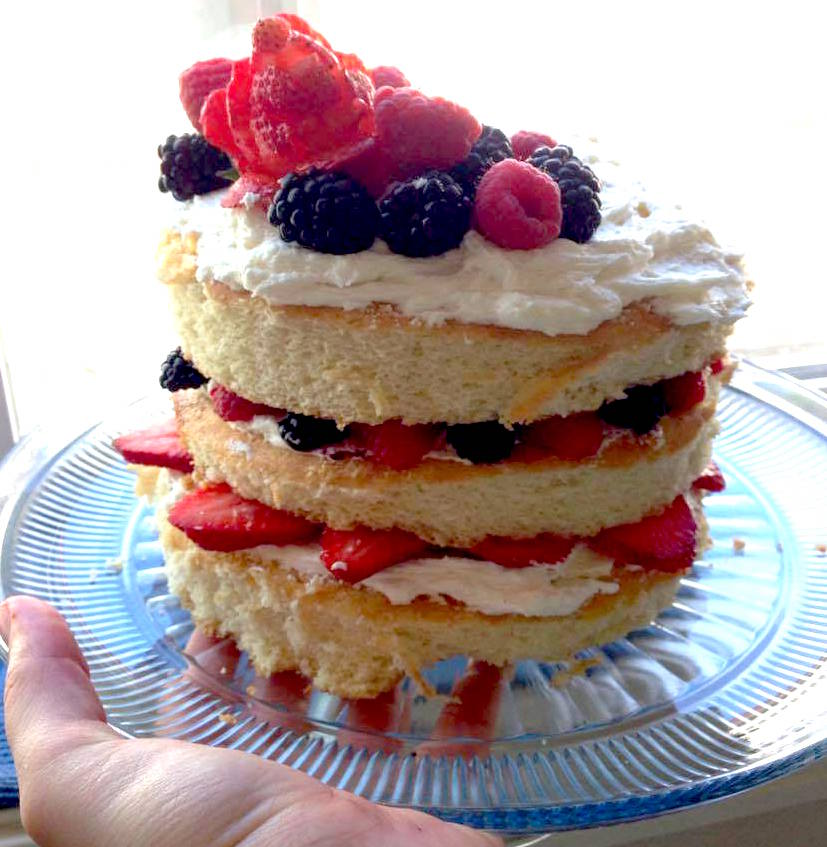 "Mother's Day ""Naked Cake"" from Amy Ginther"
