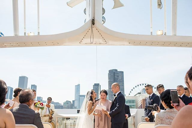 Married on a boat! Yup, we think that is pretty awesome. photography @annkamphoto
