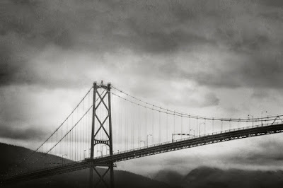 Lions Gate Bridge, Vancouver, BC, Canada - Raincity Series. by SuzanneGoodwin - All Rights Reserved.