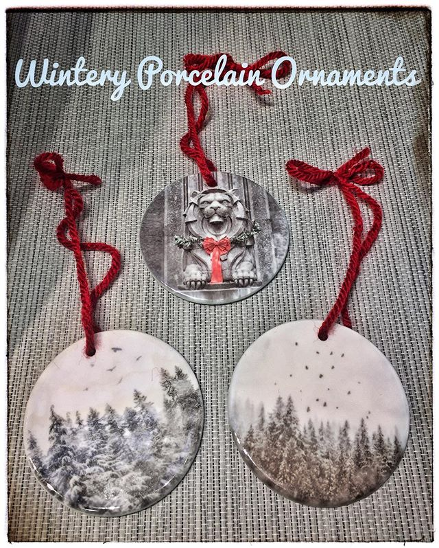 I just made a small stash of these lovely little porcelain ornaments! For your Christmas tree or anywhere else you please. Available now at my Granville Island Market table (Dec 10-18) and also at the @seymourartgallery Winter Gift Gallery in Deep Cove, BC. Only $12 each! The lion is from our iconic Lions Gate Bridge and the other two snow laden scenes are from our local mountainsides, complete with our ubiquitous crowd, of course! . . . . #vancouver #vancouverinwinter #vancouversnow #vancouverchristmas #christmasornaments #photosonornaments #handmade #buylocal #granvilleislandpublicmarket #granvilleisland #deepcove #seymourartgallery #seymourgiftgallery