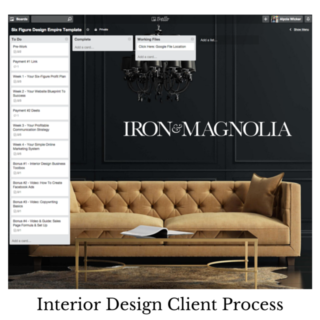 Interior design client process alycia wicker business for Interior design process