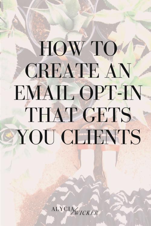 Create Email Opt In List Interior Design