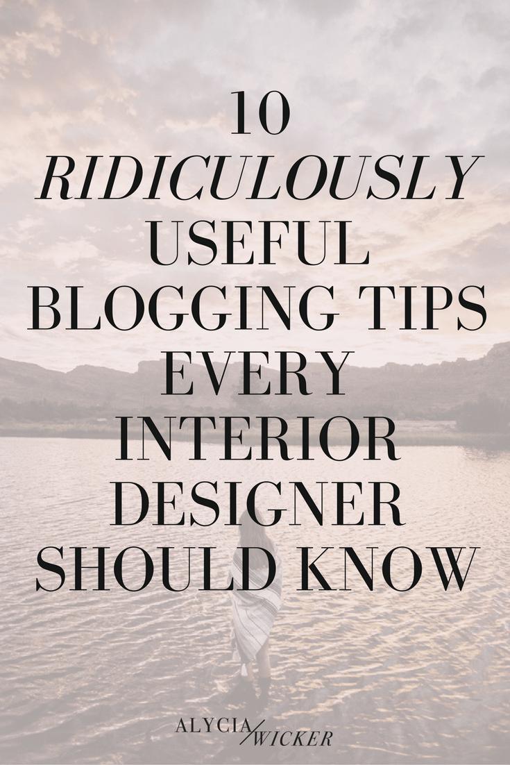 interior design blogging tips