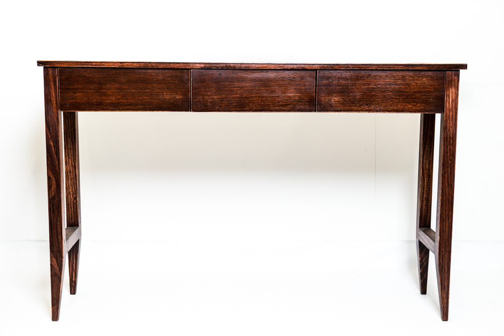 Hall table with drawer and tapered legs