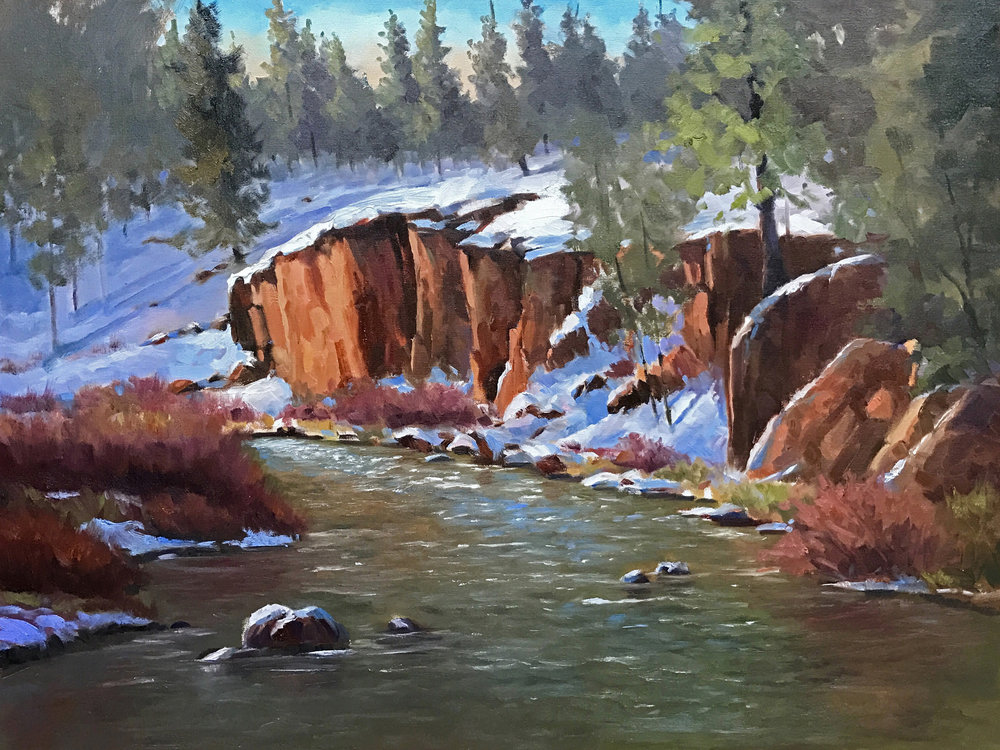 "Tumalo State Park Winter, 16"" x 20"" oil"