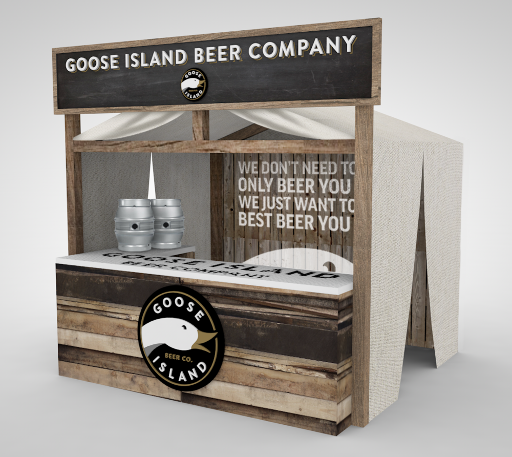 Rendering for a 10x10 outdoor show space for Goose Island.