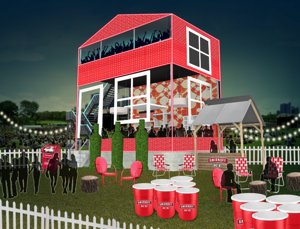 Preliminary concept for the Smirnoff House at Wayhome 2015.