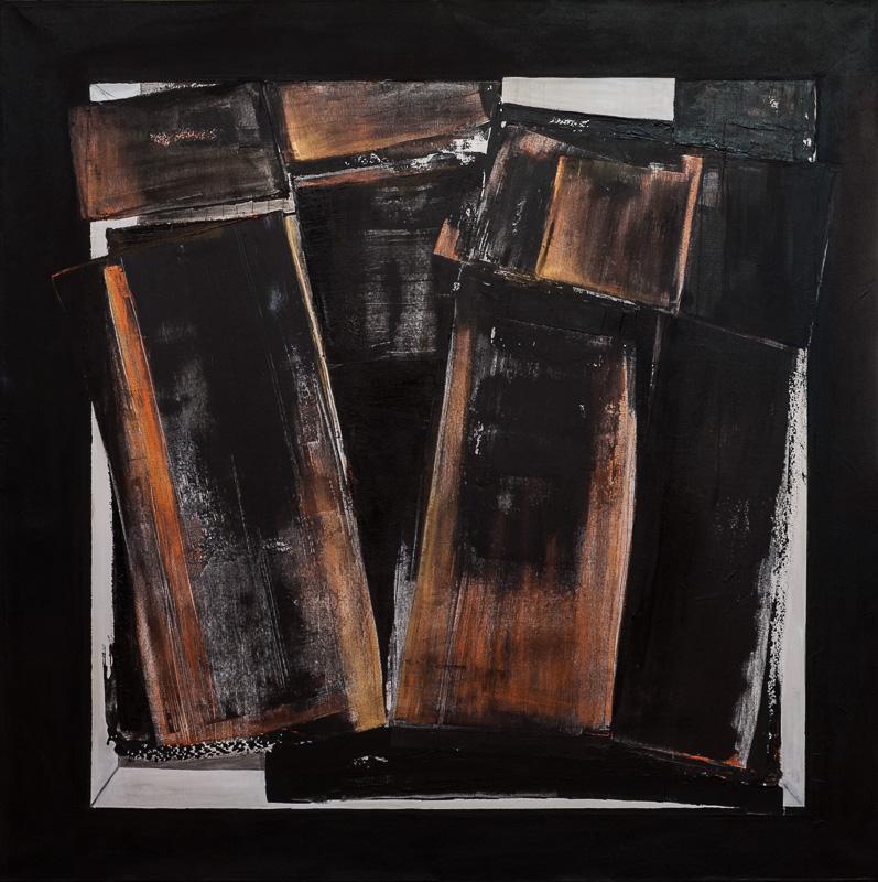 Médiums mixes sur toile, 72 x 72 pouces / 184 x 184 cm